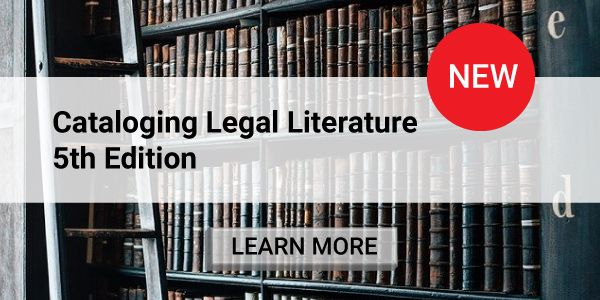 Cataloging Legal Literature, 5th Edition